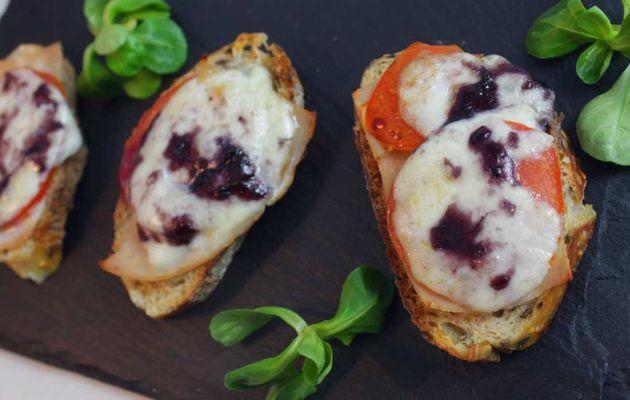Tartine de Jambon, Mozzarella, Tomate, à la Myrtille ! (#RecetteLight)