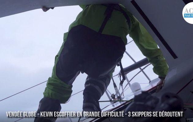 Vendée Globe 2020 - grande inquiétude pour Kévin Escoffier, 3 skippers se déroutent