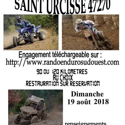Rando quads, motos et SSV du comité des fêtes de Saint-Urcisse (47), le 19 août 2018