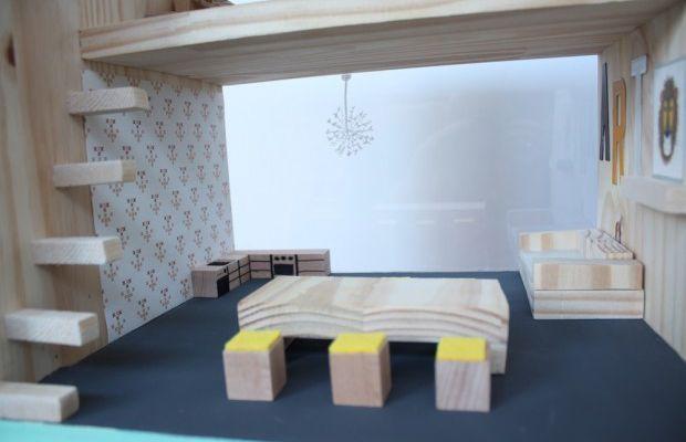 Une maison pour Sylvanians contemporaine et DIY