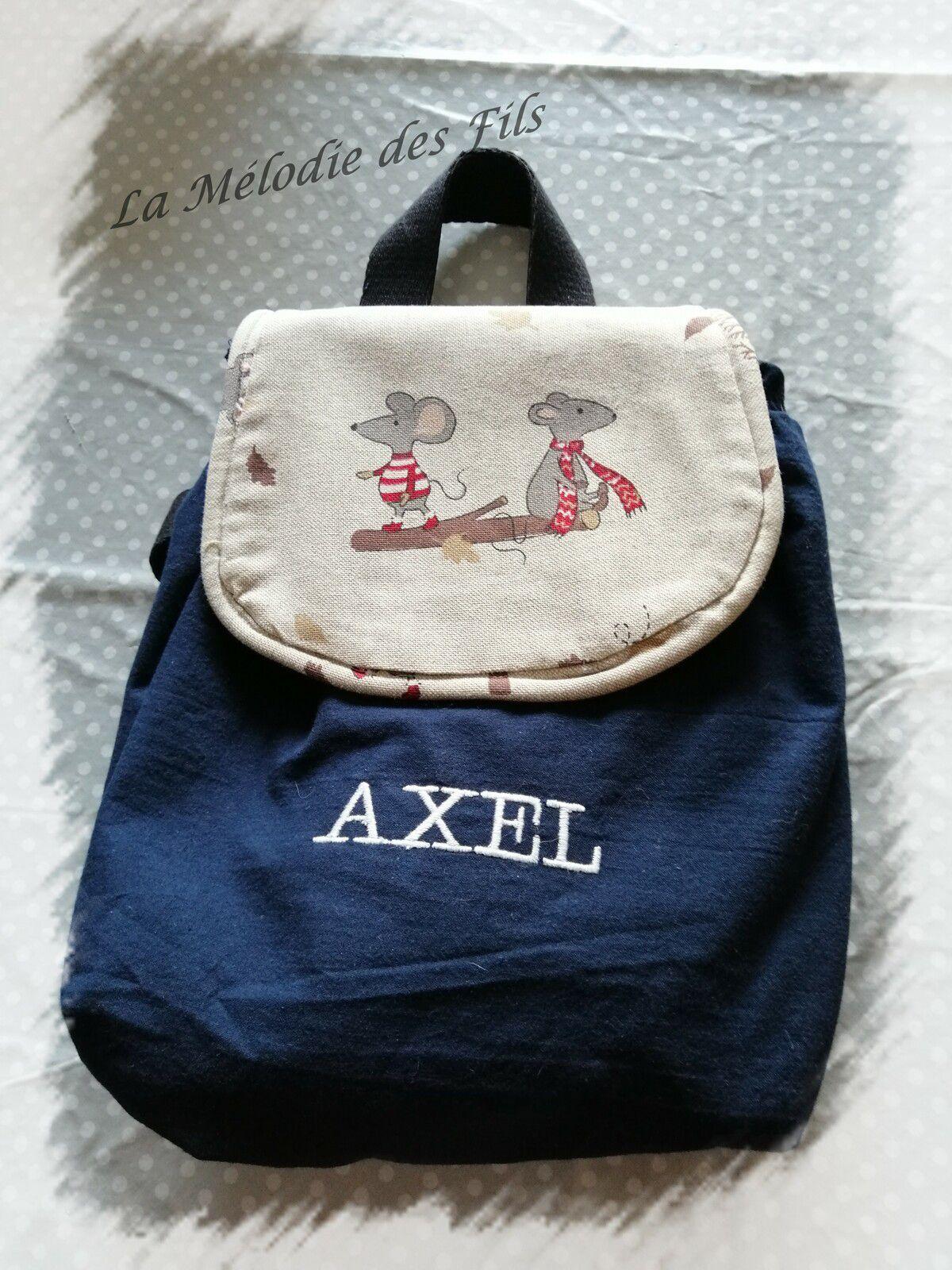 Un petit sac à  dos pour Axel