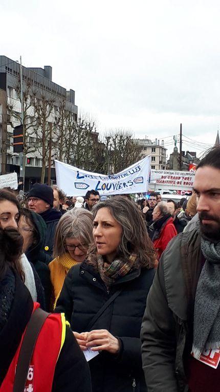 Mobilisations - 14 janvier contre la réforme des retraites - Images de ROUEN