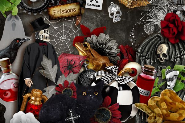 Coup de cœur - Gothic Kit scrapbooking - Scary Night by BELLA