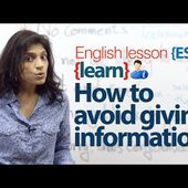 How to avoid giving information? English Lesson to practice conversation ( 1) - INGLESE SENZA SFORZO