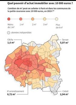 Dans Le Monde: Paris : le prix moyen du mètre carré passe à cinq chiffres
