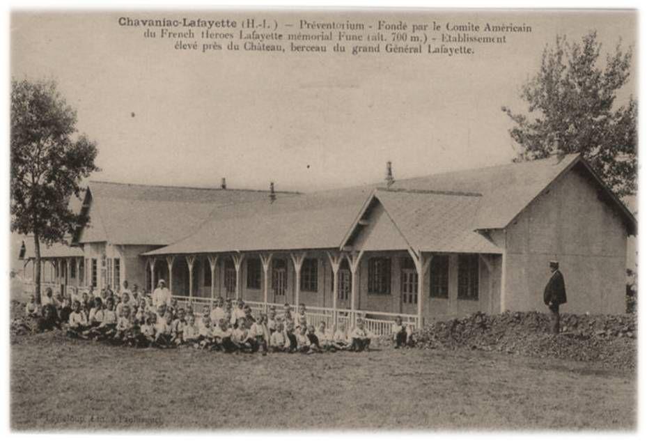 Le préventorium à Chavaniac Lafayette