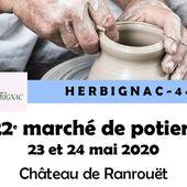 Herbignac / Ranrouët - Manifestation annulée - Marché des Potiers - 23 et 24 mai 2020 - Ensemble en presqu'ile de Guérande