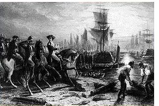 Les illusions dans la guerre, 1776, De la poudre aux yeux des anglais