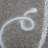 Hand Embroidered Monogram: Taking the Curves with Satin Stitch
