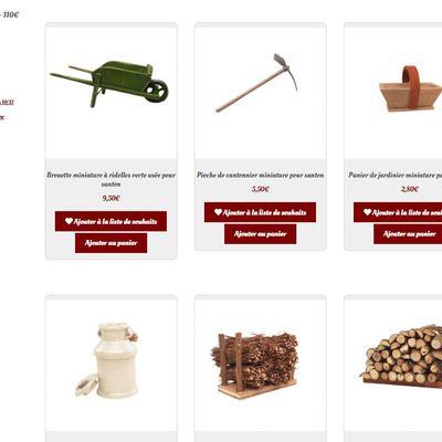 Où trouver des petits outils  et des accessoires agricoles pour la crèche ? sur creches-de-noel.fr