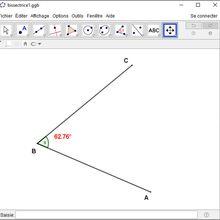 #TutorielGeoGebra #8 : Tracer la bissectrice d'un angle avec le compas - Atelier #2 -  Le tracé