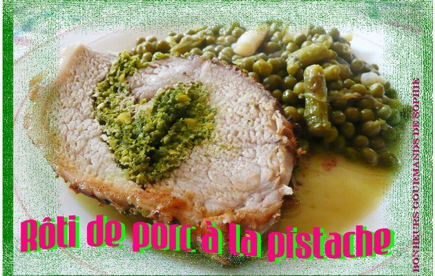 Rôti de porc à la pistache