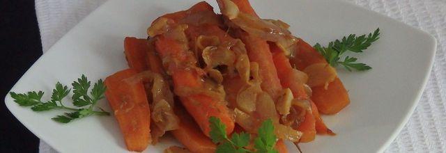 Carottes glacées aux épices et vin blanc moelleux