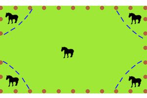 Méthode pour isoler momentanément les chevaux au pré