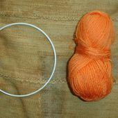 Fabriquer un Attrapeur de rêves - Partie 1 - DIY modele tuto gratuit - Fils en folie de Lilou - tricot, crochet, dentelle, couture, broderie, tuto modele gratuit