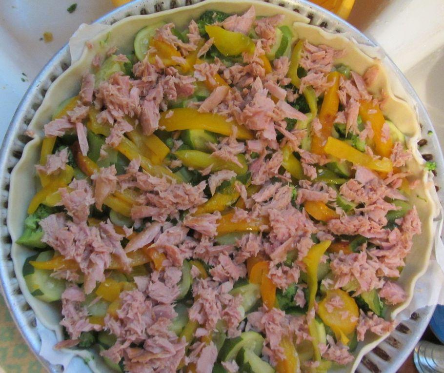 Tarte aux légumes et au thon