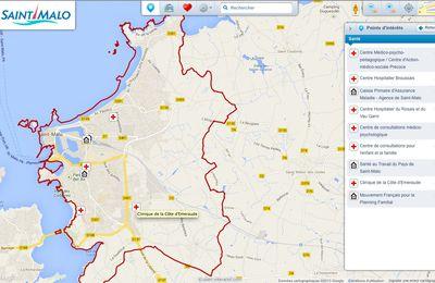 Saint-Malo : carte interactive