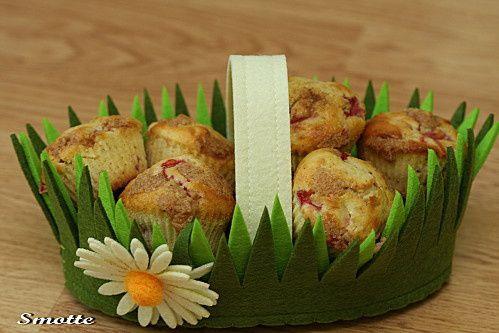Muffins fraise-rhubarbe