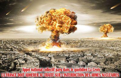 Appel collectif : La France doit adhérer au traitésur l'interdiction des armes nucléaires