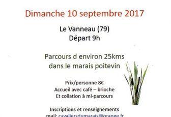 Rando au Vanneau-Irleau (79 limite 85) dimanche 10 septembre 2017