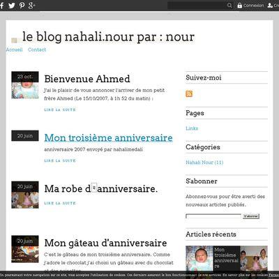 le blog nahali.nour par : nour