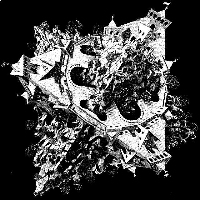 Art de l'artiste néerlandais Maurits Cornelis Escher