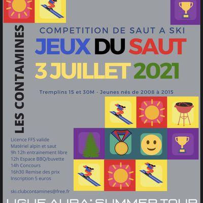 Saut à ski Tour 2021 Les Contamines le 3/07/2021