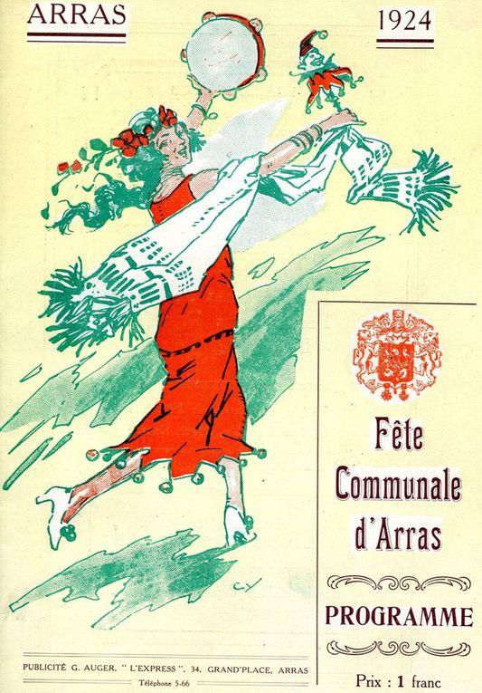 premières de couverture des programmes des fêtes communales de 1921 à 1936. (sources : archives municipales)