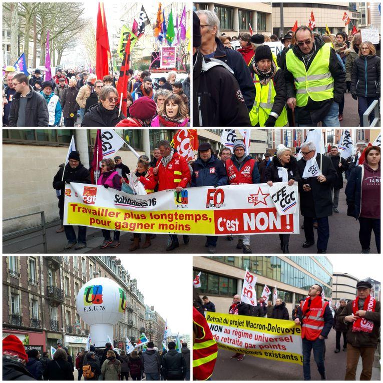 Manifestation du 16 janvier 2020 à Rouen