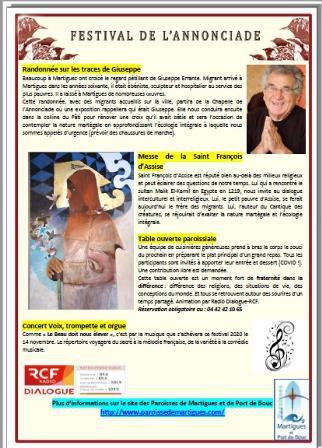 FESTIVAL DE L'ANNONCIADE : DEMANDEZ LE PROGRAMME !