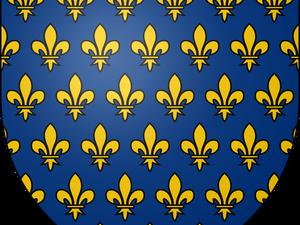 Blason écu des Rois de France - mandorle avec Christ en Gloire...