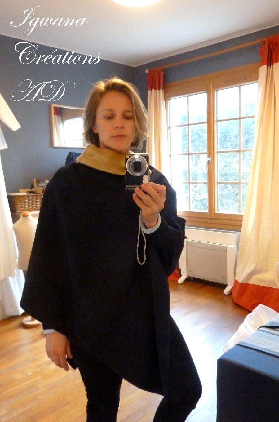 poncho Guillemette en laine: confort, élégance