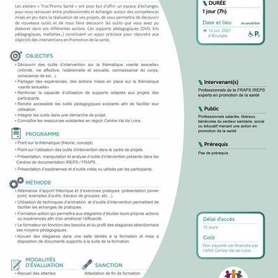 TROC'PROMO SANTE - Thème : « santé sexuelle » 14 juin 2021 à Bourges