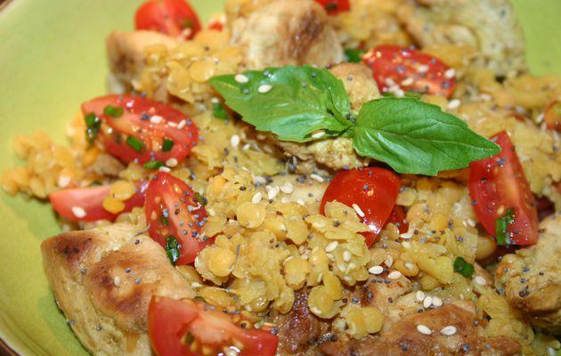Recette n°36 : Curry de lentilles corail au poulet