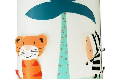 Applique murale enfant : Dragon et Jungle bleue