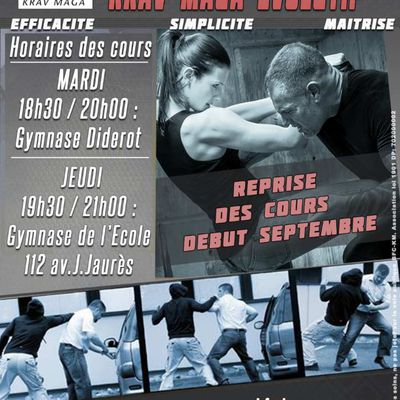 Reprise des cours de Krav Maga Evolutif (Self-Défense) et de Jiu-Jitsu le mardi 1 septembre 2020 à Belfort
