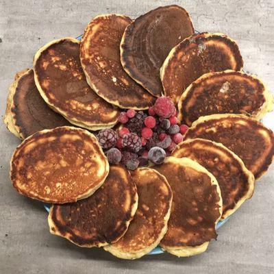 Pancakes à la banane (sans sucre ni matières grasses)