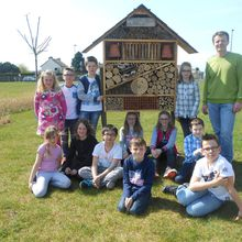 Insect hotel in the school of Gouvix - France