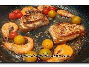 Cabillaud, risotto safrané et fruits de Mer