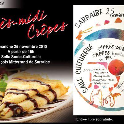 Après-midi Crêpes et solidarité - Sarralbe, novembre 2018
