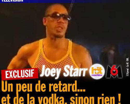 EXCLU : Joey Starr au Hit Machine, un peu de retard... de la vodka, sinon rien !