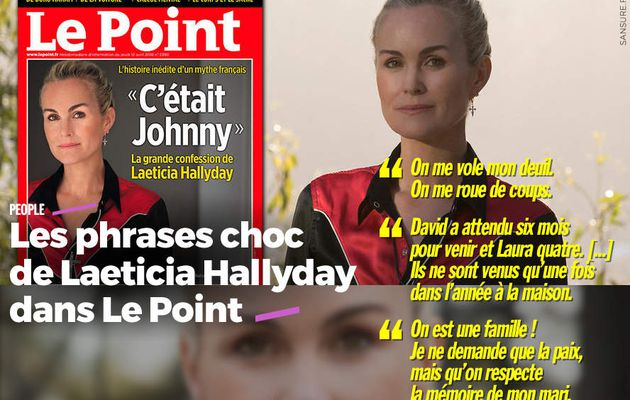 Les phrases choc de Laeticia Hallyday dans Le Point #LaeticiaHallyday