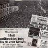 8 février 1962 : massacre du Métro Charonne à Paris. Nous n'oublions pas !