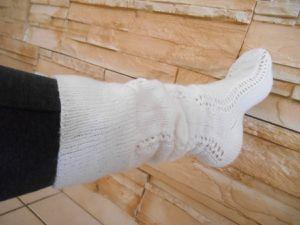 Grandes chaussettes blanches bien chaudes