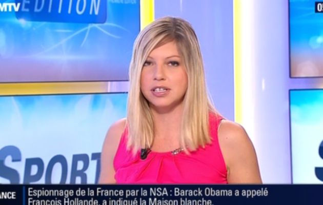 2013 10 22 - 05H45 - CAROLE COATSALIOU - BFM TV - PREMIERE EDITION 'LES SPORTS'