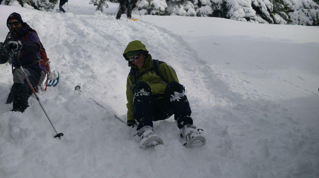 Autres réjouissances de la journée concoctées par Laurent, les descentes bien raides!!!