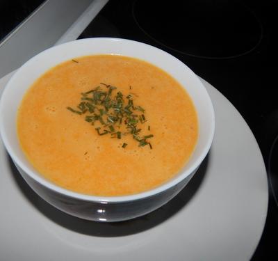 Soupe de carottes & lait de coco.