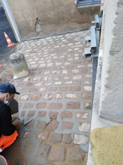 Fin du chantier pavage à Semur-en-Auxois