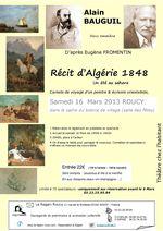 Alain BAUGUIL, récit d'Algérie -16 Mars 2013 au bistrot de Roucy