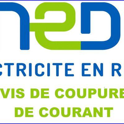 Coupures de courant le lundi 7 juin 2021 à Vernosc-lès-Annonay